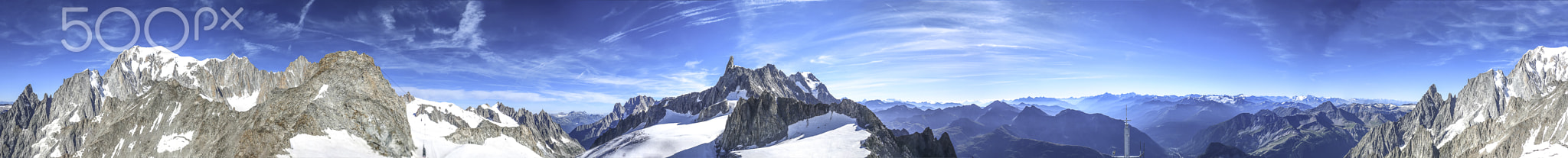 Panorama da Punta Helbronner